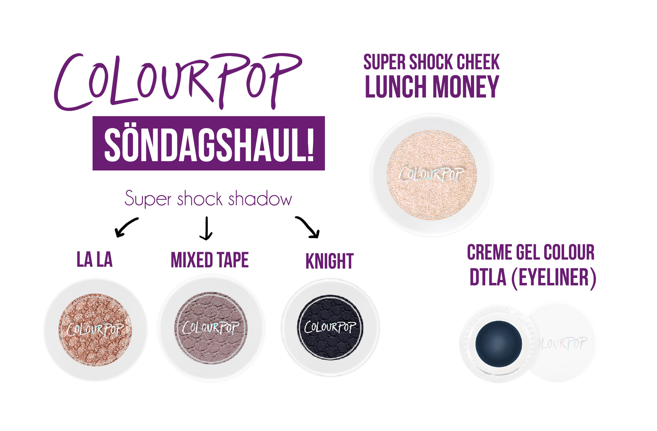 Söndagshaul Colourpop