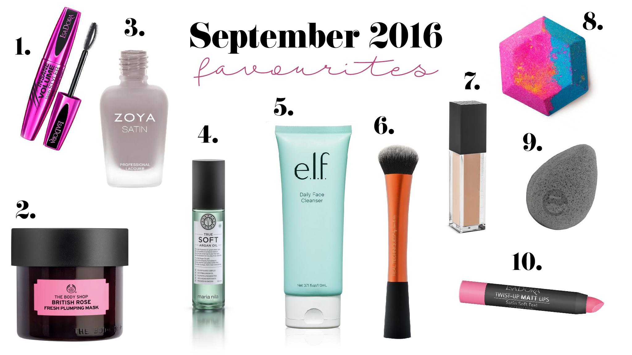 Skönhetsfavoriter – September 2016