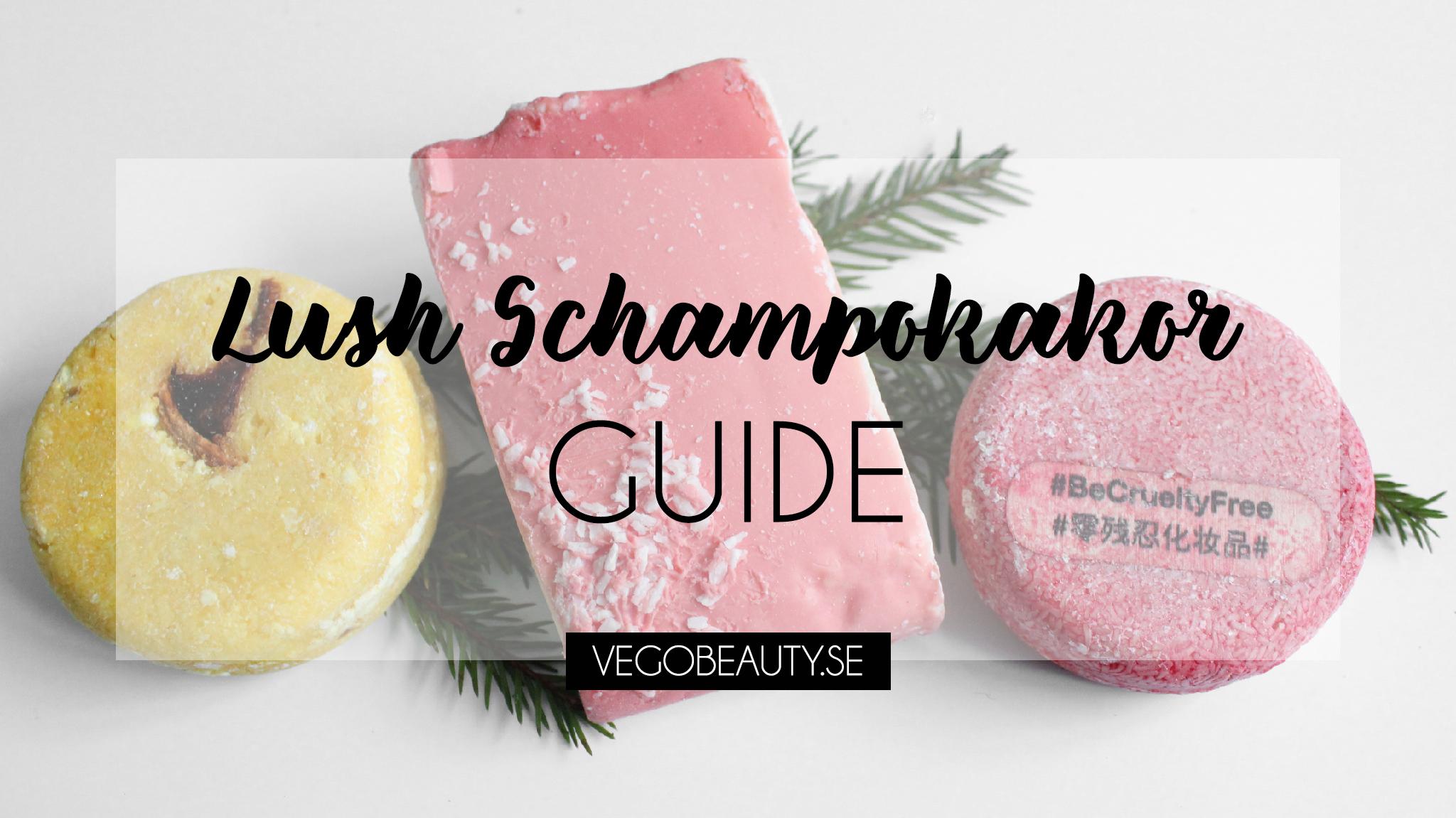 Lush veganska Schampokakor